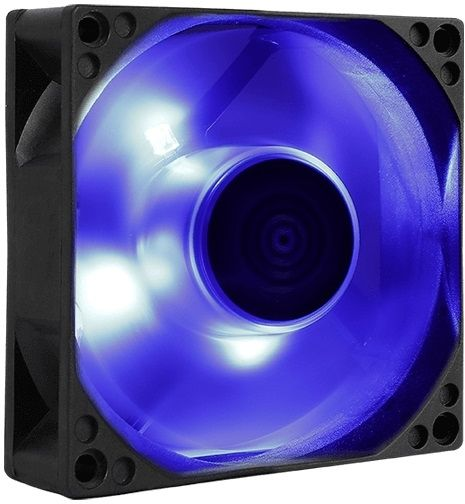 Вентилятор Aerocool Motion 8 Blue-3P 80x80mm 3-pin 25dB 90gr LED Ret