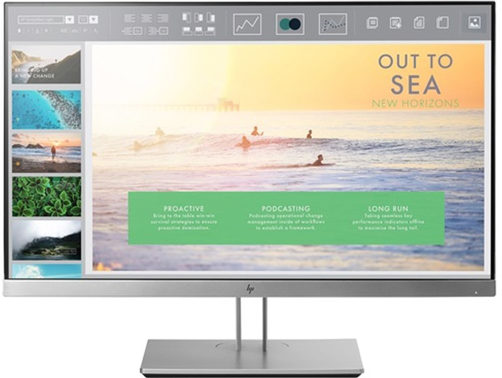 "Монитор HP 23"" EliteDisplay E233 серебристый IPS 5ms 16:9 HDMI матовая HAS Pivot 1000:1 250cd 178гр/178гр 1920x1080 D-Sub DisplayPort FHD USB 5.8кг"