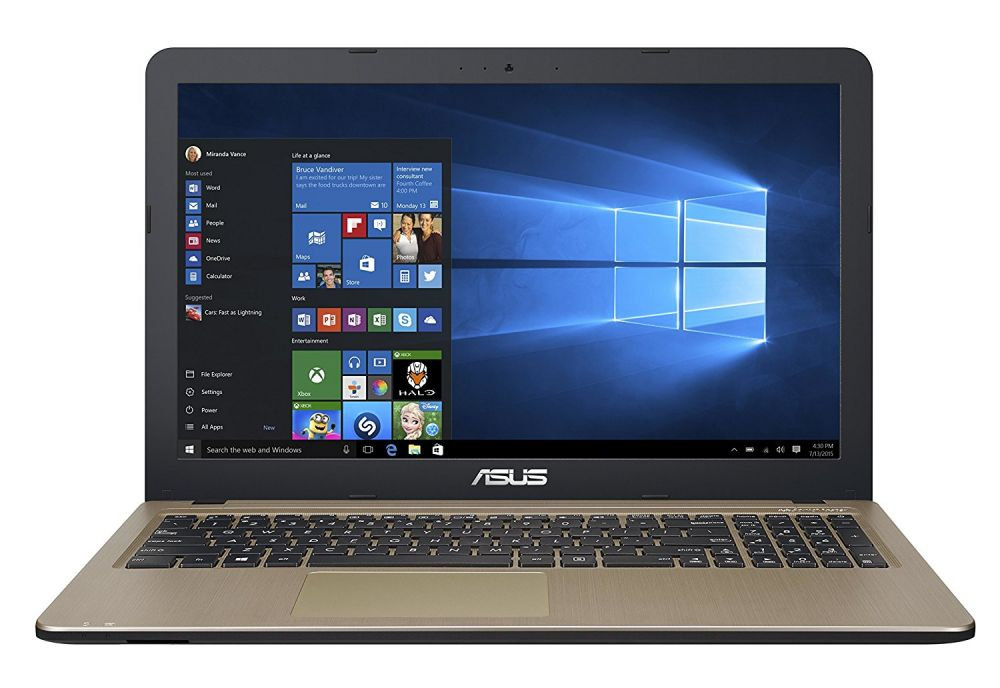 "Ноутбук Asus VivoBook X540NA-GQ005 Celeron N3350/4Gb/500Gb/Intel HD Graphics/15.6""/HD 1366x768/Endless/black/WiFi/BT/Cam"
