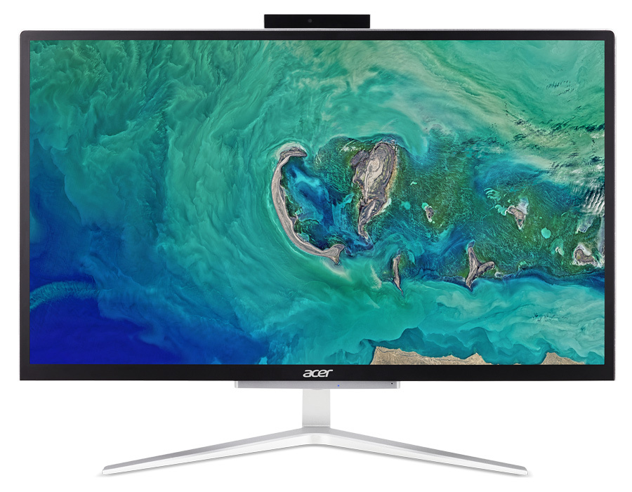 "Моноблок Acer Aspire C22-820 21.5"" Full HD Cel J4005 (2)/4Gb/SSD128Gb/UHDG 600/Endless/GbitEth/WiFi/BT/65W/клавиатура/мышь/Cam/серебристый/черный 1920x1080"